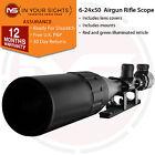 6-24x50 Air rifle Scope/ Illuminated reticle rimfire scope + dovetail mounts