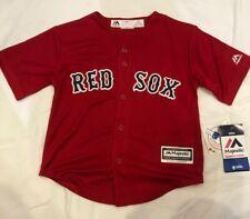 Boston Red Sox Kids Medium Size 5 - 6 Red Alternate Game  Jersey.