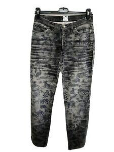 Roberto Cavalli jeans donna woman tg 26 42 S animali animalier fox multicolore