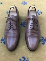 Hermes Mens Shoes Brown Leather Lace Up UK 8 US 9 EU 42