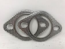 """CarXX 2-Bolt 2.5"""" High Temperature Exhaust Gasket ID 62mm 2.5 Inch PACK 2"""