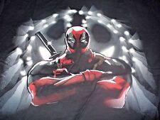 DeadPool Men's KO Marvel Comics Super Hero Black & Red T-Shirt Size Large L