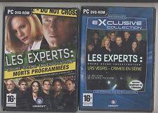 NEUF LOT 2 JEUX PC LES EXPERTS  JEU ET MANUEL EN FRANCAIS SOUS BLISTER