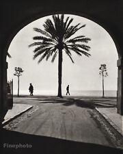 1934 Vintage FRANCE Nice Etats Unis Arch Street Landscape Art 11x14 By HURLIMANN