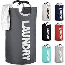 Large Foldable Laundry Basket 82L Foldable Washing Bag Oxford Fabric Hamper