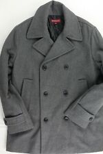 Merona Wool Blend Gray Quilted Lining Peacoat L