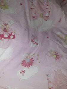 Next Girls Fairy Pink Single Duvet Cover And Matching Pillowcase