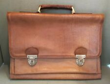 Vintage Tan Leather Briefcase 42 x 30 cms