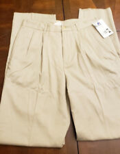 New Russell Athletic Men's Pleated Casual Pants Khaki Size 36 $15 Free Shipping