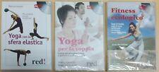 LOTTO 3 DVD - YOGA E FITNESS - YOGA con sfera elastica, YOGA per coppia, FITNESS