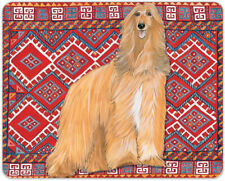 "Afghan Hound Cutting Board Tempered Glass 8"" x 10"""