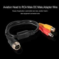 4Pin M12 Aviation Head to RCA Male DC Male Extension Cable Adapter Wire #1