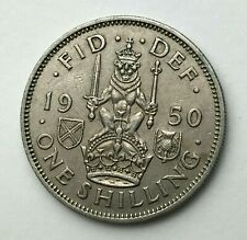 Dated : 1950 - One Shilling Coin - King George VI - Great Britain