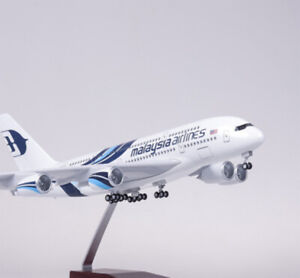 1/160 Malaysia Airlines A380 Aircraft Airplane Toy Pane Model Display Collection