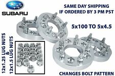 """5x100 To 5X114.3 OR (5x4.5"""") Wheel Spacers Adapters Conversion Subaru 1"""" Thick"""