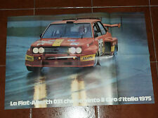 POSTER Rally FIAT 131 Abarth 031 CAMPIONE GIRO D'ITALIA 1975 PIANTA SCABINI