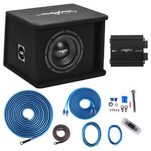 "SKAR AUDIO SINGLE 8"" 700W SDR SERIES BASS PACKAGE W LOADED BOX - AMP - WIRE KIT"