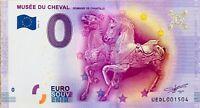 BILLET 0 ZERO EURO SOUVENIR TOURISTIQUE MUSEE DU CHEVAL CHANTILLY   2016