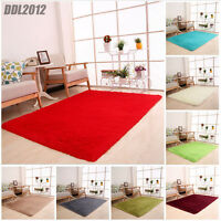 Fluffy Rugs Anti-Skid Shaggy Area Rug Dining Room Floor Home Bedroom Carpet Mat