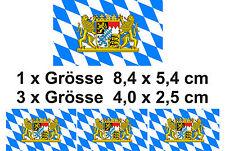 PREMIUM Autoaufkleber Set Bayern Löwe Wappen car Sticker Aufkleber Auto Motorrad
