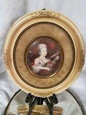Vintage A Cameo Creation Portrait - La Dame a la Guitare by Charles A.P. Van Loo