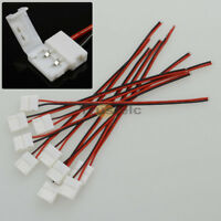 10Pcs 10mm 2Pin Free Solder Connector Cable For 5050 5630 Single Color LED Strip