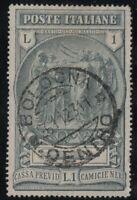 1923 REGNO PREVIDENZA CAMICIE NERE USATO CON ANNULLO ORIGINALE - CERT. CILIO