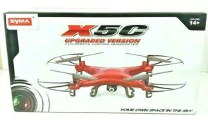 Syma X5C Upgraded Version Red Quadcopter Drone with HD Camera 2.4G 4CH 6-Axis
