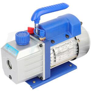 3CFM Vacuum Pump Single Stage 1/4HP Rotary Vane Deep HVAC AC Air Conditioning