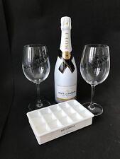 MOET Chandon Ice Imperial Champagne 0,75l 12% vol + 2 bicchieri in vetro + forma cubetti di ghiaccio