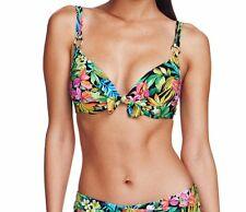 Sunseeker Pacifica Bikini AU 8 Push Up Booster Bra D Cup & Mid Rise Pant $170
