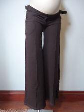 Wide Leg Cotton Blend Maternity Trousers