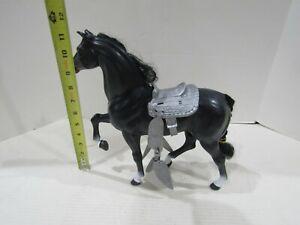 Vintage 1980 Mattel Barbie Black Midnight Horse With Saddle DOLL HORSE PET