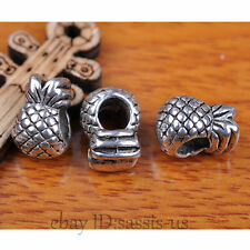 20pcs Charms Spacer Beads 5mm Hole pineapple Tibet Silver Bails DIY Jewery A7297