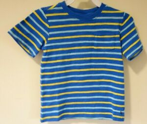 New With Tags Janie and Jack Blue Yellow Striped Pocket Shirt Size 4