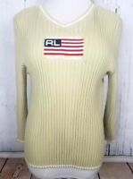 Polo Jeans Co Women X Large Ralph Lauren American Flag  Sweater Pullover Vintage