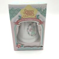 Vintage 1995 Precious Moments Home For The Holidays Collection Bell Ornament NI