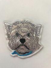 West Highland Terrier Westie Perro Parche de hierro en apliques