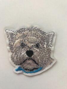 West Highland Terrier Westie Dog Iron on Applique Patch
