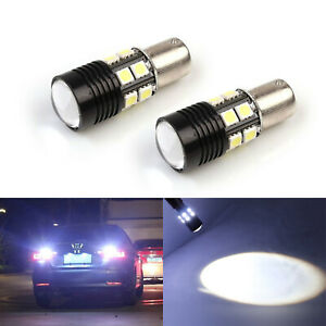SOCAL-LED 2x CREE 1156 Back up Bulbs Reverse Tail Light Super Bright Xenon White
