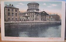 Irish Postcard FOUR COURTS Dublin Ireland to Steamer SS Bavarian Liverpool 1904