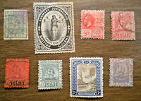 British America - Guiana - 2 not in book + # 77 to 179 - 1876 to 1913 - 8 stamps