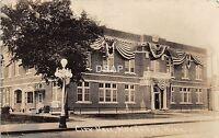 C79/ Moorhead Minnesota Mn Real Photo RPPC Postcard c1910 City Hall Building