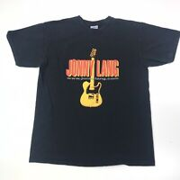 Vintage Jonny Lang Concert Tour T Shirt Guitar Black Mens Size M Medium #335