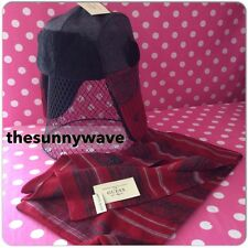 GUESS mens winter warm sherpa knit wool blend logo TRAPPER HAT SCARF SET NWT
