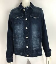 Jag Jeans Lowen Denim Jacket Rapid Dark Distressed Paisley Womens Size Small NWT