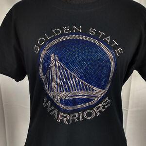 Women's Golden State Warriors Rhinestone Basketball  T Shirt Tee GS Ladies