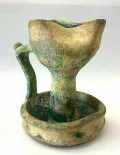 Islamic Pottery oil lamp 12th century A.D