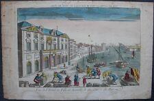 Vue d'Optique : MARSEILLE : Vue de l'Hôtel de Ville du côté du Port 18e siècle