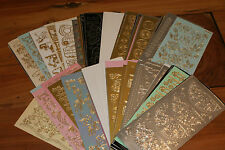 100 assorted peel off stickers - cardmaking